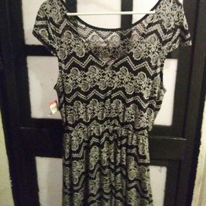Black lace dress tags still attached